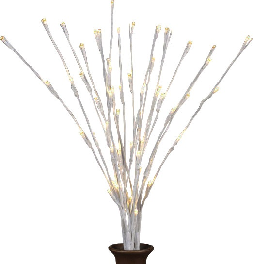 """20"""" 3pc White Wrapped LED Lighted Branches"""