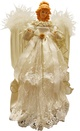 """16.5"""" Ivory and Gold Angel Tree Topper"""