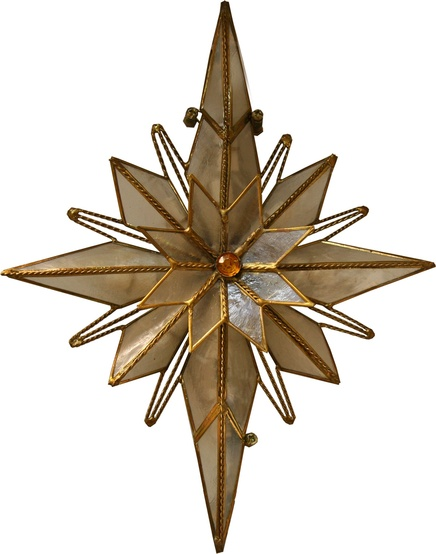 "10"" Bethlehem Star Tree Topper"