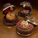 Deluxe Gifts of the Kings Brass Antique Wood Box Set, 3 Piece Set