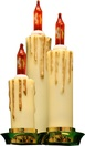 15-Count Triple Ivory Candle Light Bulb Set with Gold Dripping Wax and Amber Bulbs