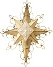 """12.5"""" 8 point ornate Bethlehem Star with Scrolled Wire Decor"""