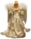 """14"""" Ivory and Gold Angel Tree Topper"""