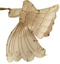 """24"""" Frosted White Glass Angel Tree Topper"""