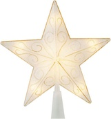 "8"" Mica Star Tree Topper for White Trees"