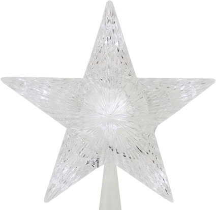 "10"" Crystal LED Star Tree Topper"