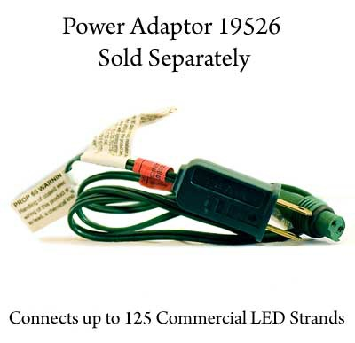 "Commercial 25 Red C9 LED Christmas Lights, 12"" Spacing"
