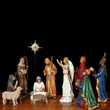 Deluxe Shepherds and Angel Nativity