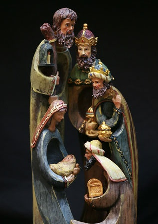 "15.5"" Resin Nativity Set with Wise Men"