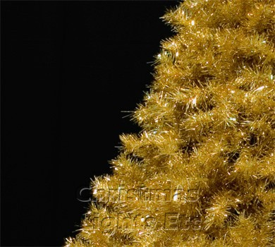 7.5' Gold Tree, 800 Gold Lights on Gold Wire