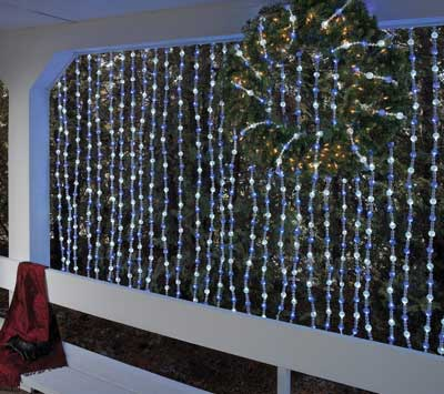 Warm White LED Beaded Light Garland
