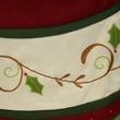 "56"" Burgundy Tree Skirt with Holly Trim"