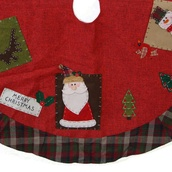"48"" Christmas Tree Skirt with Santa, Snowman and Reindeer"