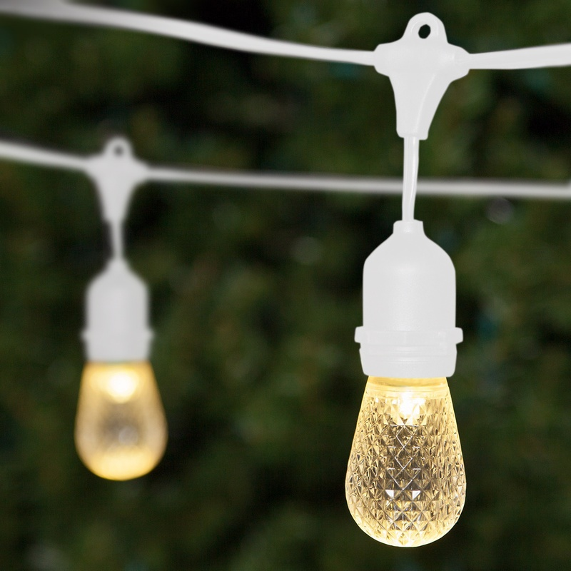 Patio Light Strings with Hanging Grommets