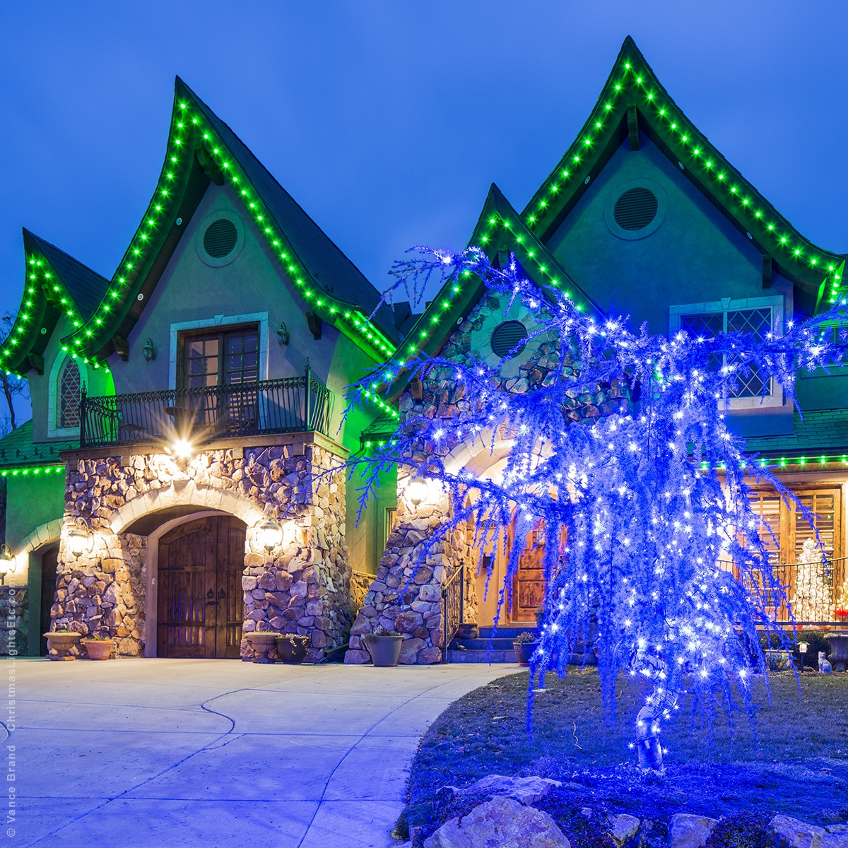 C9 outdoor christmas lights clear