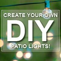 DIY Outdoor String Lights