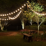 patio string lights and bulbs rh christmaslightsetc com commercial outdoor patio string lighting outdoor patio string lighting lowes