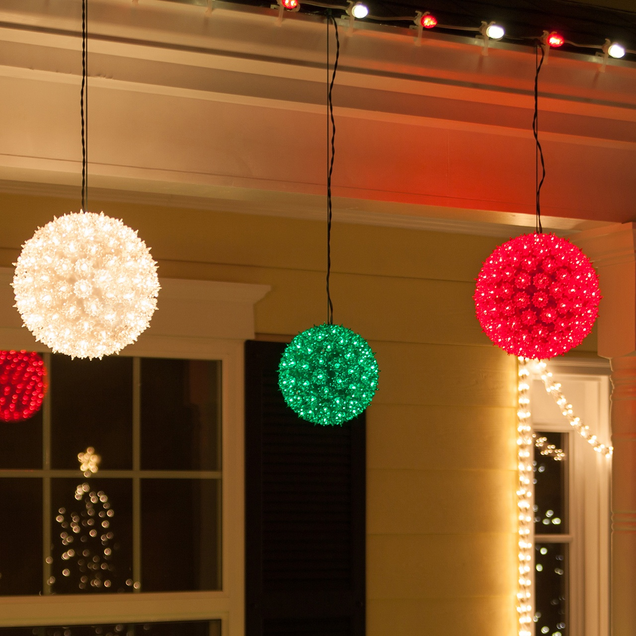 Multi Color Christmas Lights White Wire