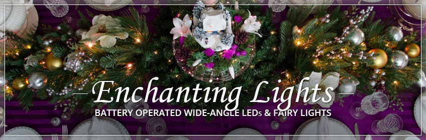 battery operated lights - Battery Lighted Christmas Decorations