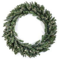lighted christmas wreath
