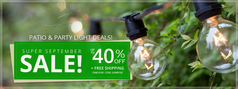 Super September Patio Light Sale!