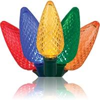 Multicolor C9 LED Christmas light strings