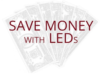 LED Christmas lights save money
