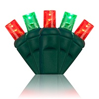Red and Green LED MIni Christmas Lights
