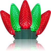 red and green christmas lights for wrapping large trees