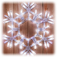 Cool White LED Folding Snowflake