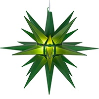 green moravian star lights