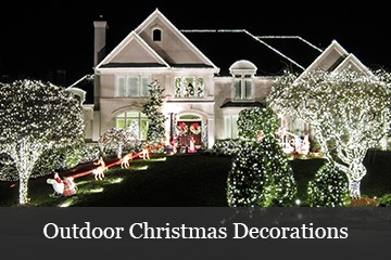 outdoor christmas lights and decorations