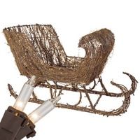 outdoor Christmas decoration grapevine sleigh