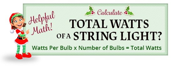 string light wattage calculation