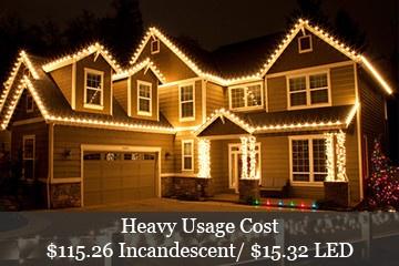 Cool Christmas House Lighting. Heavy Christmas Lights Power Usage Cool House  Lighting