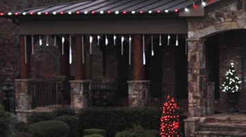 LED cascade and snowfall icicle lights