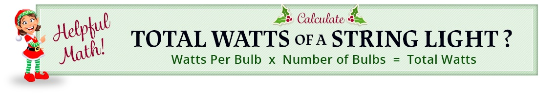 Christmas lights wattage calculation