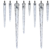 animated falling icicle lights