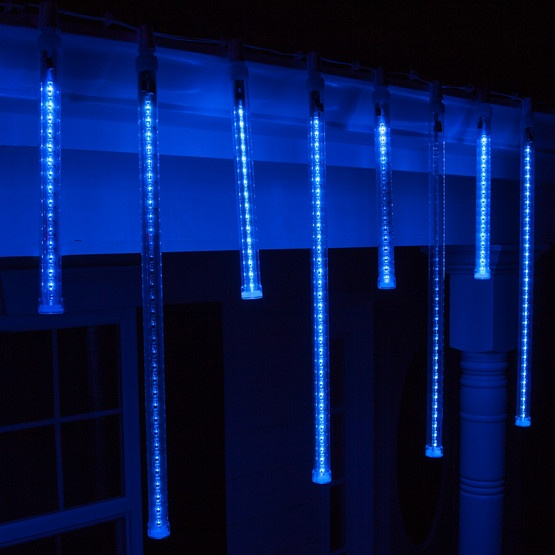 Icicle lights t8 blue grand cascade led light tubes e17 base aloadofball