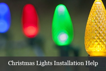 Christmas lights installation help