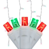 red and green led christmas icicle lights