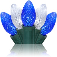 blue and cool white led christmas lights