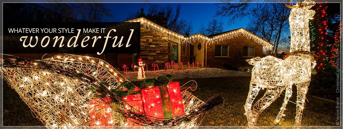 Christmas Garland With Lights Outdoor