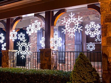 snowflakes stars christmas decorations - Battery Lighted Christmas Decorations