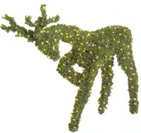 lighted christmas topiary animals