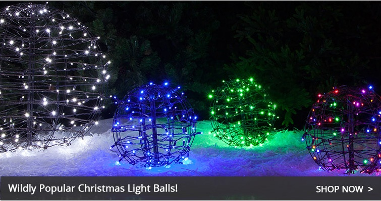Christmas Light Balls · Lighted Outdoor Yard Decorations