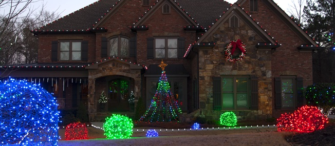 diy christmas lights planning - Professional Christmas Decorators Cost
