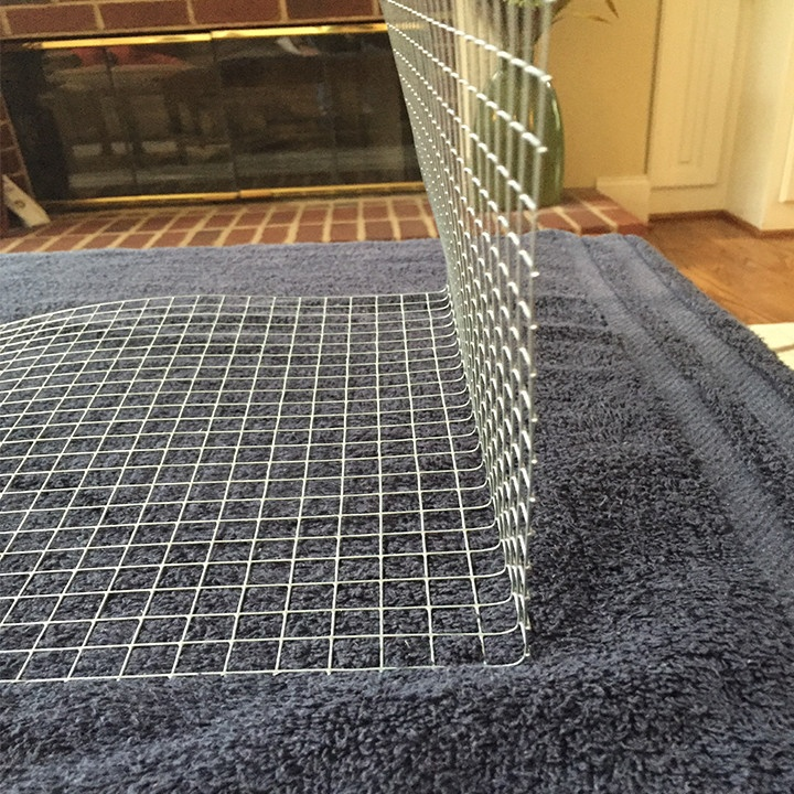 Lighted chicken wire gift box step five- check your angles