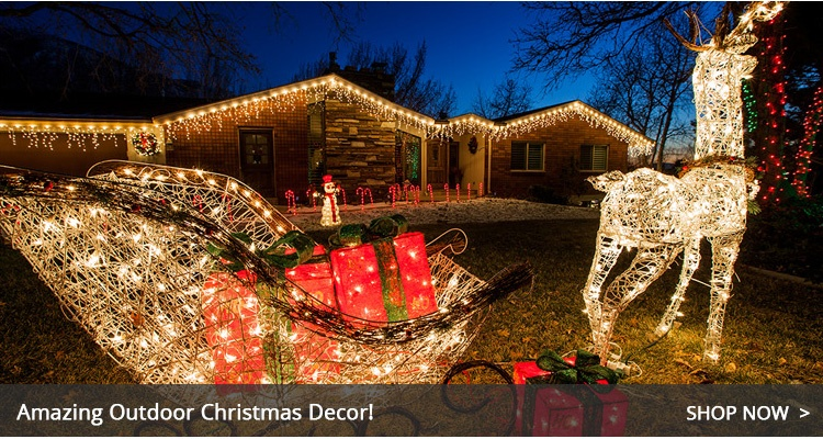 outdoor christmas decorations - Images For Christmas Decorations
