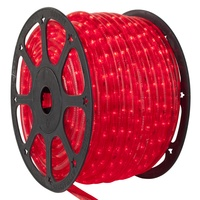 Red LED rope light spool
